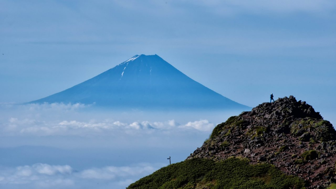 富士山が見える山